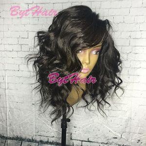 Bythair Court Cheveux Humains Dentelle Perruques Vierge Brésilienne Lâche Bouclés Lace Front Wig Naturel Curl Full Lace Cheveux Humains Bob Perruque