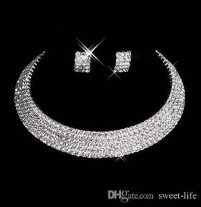 Designer 150-35 Sexy Hommes-Fait Diamant Boucles D'Oreilles Collier Partie De Bal Formelle De Mariage Ensemble De Bijoux De Mariée Accessoires Livraison Gratuite En Stock