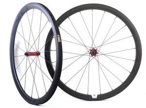 Rodas do carbono da largura da bicicleta da estrada das rodas do carbono da largura da profundidade de 700C 38mm com o cubo reto da tração de EVO, borda da U-forma