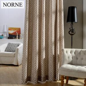 침실, 단열재, 프라이버시 보장, 거실, 하나의 패널을위한 현대 기하학 인쇄 창 커튼을위한 Norne Blackout 커튼.
