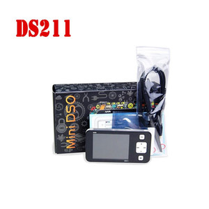 """Бесплатная доставка DDDSO DS211 портативный цифровой осциллограф USB 200KMhz ARM Nano 2.8"""" с зондами limt Bag DS0211 Mini Automotive Osciloscopio"""