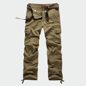 30-44 Artı boyutu Taktik erkek Kargo Pantolon Rahat Erkekler için Gevşek Pantolon Çok Cep Ordu Genel Erkekler Uzun Pantolon Militarys Giyim