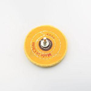 1 pièce 100mm Monté À Rabat Tissu De Polissage Roue Jade Agate Bijoux Polissage Drill Dremel Outils Rotatifs