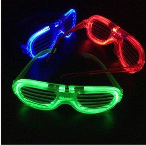 Светодиодные очки мигающие Шторки Форма Очки светодиодной вспышкой очки солнцезащитные очки танцы для вечеринок Фестиваль рождественские украшения Hollowen