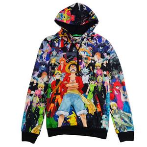 Atacado-XClassic-3D hoodies One Piece dos desenhos animados anime impressão com capuz pullovers homens mulheres outono inverno outerwear roupas camisola