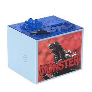 1 pcs / lot Dessin Animé Mignon Godzilla Film Musical Monster Moving Electronic Coin Money Tirelire Box