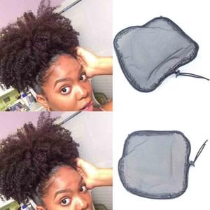최고의 품질 블랙 컬러 크기가 발 모자 포니 테일 Hairnets 만들기위한 블랙 컬러 고품질 빠른 배송