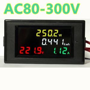 4IN1 HD Farbdisplay LED-Anzeige 180 Grad Fehlerfreie Anzeige Voltmeter Amperemeter Energiezähler Wirkleistung AC 80-300V 100A