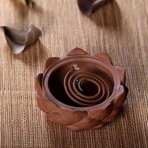 Cerámica de cerámica pequeña envíe estufa incienso bobina sándalo incienso 4pcs decoración quemador laoshan sandalwood caliente fiigp