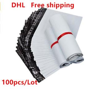 100 Unidades 6.6inx11.8in Bolsas de correo de color blanco o gris con envoltura de correo con bolsa de mensajero autoadhesiva, impermeable y a prueba de roturas