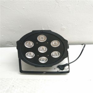 HOT 7x12w led Par lights RGBW 4in1 flat par led dmx512 disco lights professional stage dj equipment