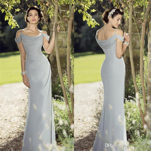 Elegant Off Shoulders Backless Long Mother of the Bride Dresses Chiffon Formal Godmother Evening Wedding Guests Dress Custom Made Plus Size