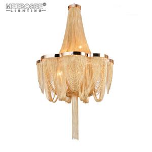 Старинные Французская Империя люстра пост цепь алюминиевая подвеска свет висит падение блеск для гостиной отель проект Огни