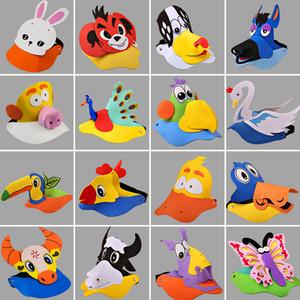 Halloween Kinder Kinder Hüte für Party Bühnenperformance Spiel Eltern-Kind Animation Sonnenhut EVA Hüte Tier Hut 50 Wahlen