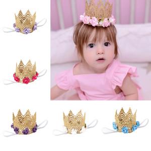 SICAK taç bebek Fotoğraf çekerken çocuklar hediye için güzel saç aksesuarları babay Çelenkler örgü taç halka headbrand çocukları gül