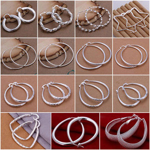 2016 hot sale XMAS wholesale 1pc fashion 925 sterling silver jewelry charm Earrings ,New fine 925 silver charm Earrings for women
