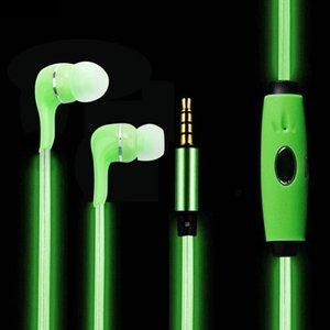 LED-Kopfhörer-sichtbare EL fließende LED, die In-Ohrkopfhörer mit MIC für Telefon iphone Samsung 6 6S S6 mit Kleinkasten beleuchtet