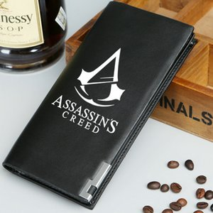 Assassins Creed кошелек бесплатная доставка кошелек игра убийца короткие длинные Cash note case деньги notecase кожа burse сумка держатели карт