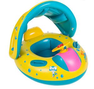Sécurité pour bébé bébé piscine gonflable flotteur Siège réglable Pare-soleil Bateau Bouée Piscine Pare-soleil pour bébé Swim Seat Float Bateau