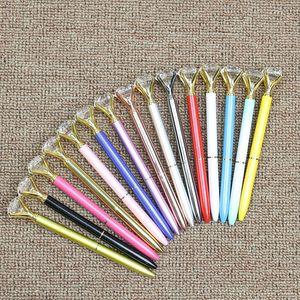 أقلام الحبر 2020 فتاة الموضة الجديدة 19 قيراط الماس كبير أقلام حبر جاف كريستال اللوازم أقلام للمدرسة مكتبية