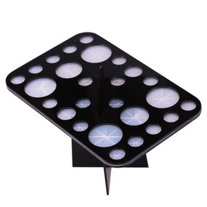 1pcs 패션 메이크업 브러쉬 SetKit 26Holes 홀더 아크릴 드라이 랙 건조 브러쉬 디스플레이 선반을 확인합니다. 화장품 도구 스탠드 브러쉬를 청소합니다.