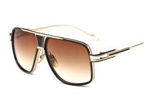 Lunettes de soleil rétro style couple métal gros cadre lunettes de soleil étoiles lunettes de soleil