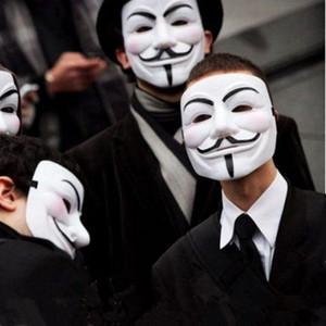 Halloween Party maschera intera Masquerade V per Vendetta maschere di Guy Fawkes Anonymous costume di Halloween sfera operata per gli uomini adulti