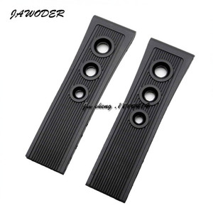 JAWODER Watchband 22mm 24mm (Buckle 20mm) Men New Top Grade Black Diving Silicone Rubber Watch Band Strap for B-R-E Watch