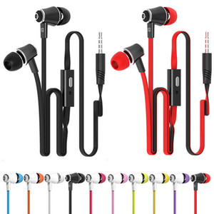 JM21 Ohrhörer Super Bass Ohrhörer Stereo HIFI Kopfhörer mit Mikrofon 3,5 mm Nudeln verdrahtete In-Ear-Headset für Samsung iPhone Xiaomi