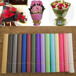 Цветочная упаковочная бумага бумаги Kraft Papers подарочный букет упаковки флориста поставки упаковочные бумаги цветы оберточные бумаги 60 * 60см wx-h17