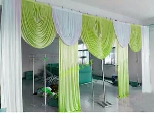 6 m de largura swags para backdrop valance casamento estilista pano de fundo partido gota cortina celebração palco desempenho fundo