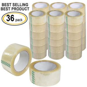 """36 Rolls Caja del cartón de embalaje sellado de cinta de embalaje 2"""" Patios x100 (300' pies) Borre"""