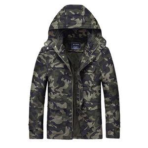 Bomber Männer Jacke Slim Fit Jacken Hoodies Camouflage Mäntel Mantel Military Style Männlich Große Größe Kleidung Frühling Herbst 2017