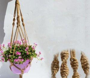 Hander Hander Hander Hander Handmade Macrame джута красочные ручной работы 40 дюймов домашний сад украшения висит цветочный дисплей