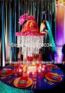 sin incluir las flores) tall acrílico Crystal Candelabro de hierro de la astilla Wedding Wedding Centerpieces para la etapa de la boda