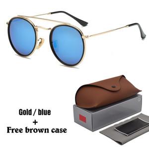 Yeni Arrial Steampunk güneş gözlüğü kadın erkek metal çerçeve çift Köprü uv400 lens Retro Vintage güneş gözlükleri Gözlüğü ile 11 renkler kutu
