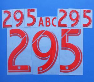 2017-2018 Major League Soccer Vermelho / Ouro Personalizado Soccer Bernockset Personalizar Nome A-Z Número 0-9 Imprimir MLS Jogador Nomeset