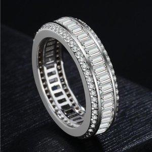 Authentic Sterling Silver Espumante Arco Nó Anel Empilhável Micro Pavimentar CZ para Mulheres e homens Jóias de Casamento