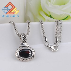 Zircon Pendant (1Piece   Lot) Silver Plated Silver Red   White Zircon Woman Necklace