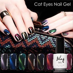 Wholesale- FOCALLURE Bling 3D Cat Eyes UV Gel Polish 6ML Soak Off Led UV Gel Nail Polish Magnetic Gel Lacquer Long-lasting 30 Days