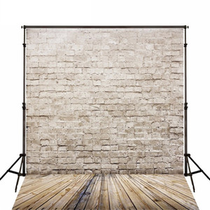 5x7ft 벽돌 사진 배경 나무 바닥 신생아 스튜디오 촬영 소품 어린이 빈티지 벽 질감 사진 배경