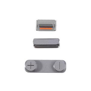 iPhone 5 5S 5c Yan Düğme Seti DHL için güç düğmesi + Ses Düğme + Sessiz Düğmesi
