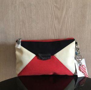 Yeni Naylon çanta Kadın mesaj Knucklebox Polyester Debriyaj çanta Cep Telefonu Cebi kadın çantası Panelli Patchwork