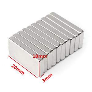10pcs 20mmx10mmx3mm N50 Rectangular Magnet Blocks