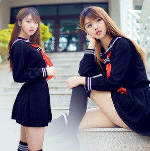 Menina do Inferno Japonês High School Girl Sailor Uniforme Terno Traje Cosplay sexy vestido
