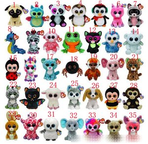 35style animaux mignons beanie Boos peluche TY grands yeux jouets animaux mignons 15cm poupée animal TY