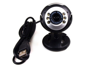 12MP Mic Webcam USB 6 LED Web Cam Câmera Filmadora para Laptop Pc Online MSN Skype Novo