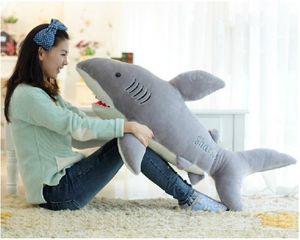 """Оптовая дешевые большие белые акулы челюсти чучела животных игрушка кукла день рождения 27,5 """" плюшевые игрушки"""