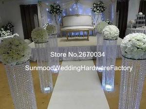 commercio all'ingrosso acrilico diamante corridoio stand / basamento passerella / matrimonio di cristallo pilastro per matrimoni