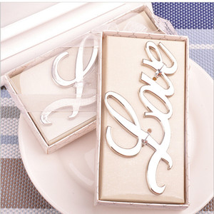 LOVE Opener Gold Stainless Steel Bottle Opener Set Wedding favors party favors supplies, Wedding Gift Cheap B01